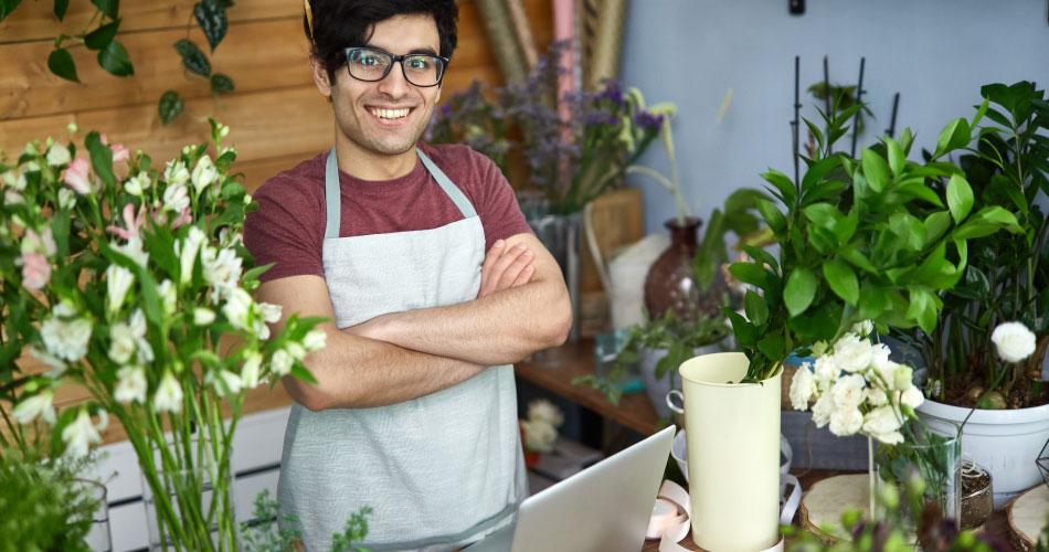emprendedor de negocio de flores
